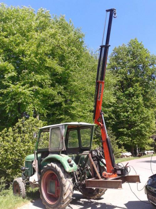 Kran für Traktor