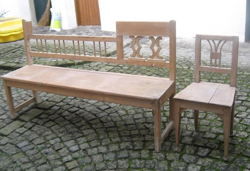 antike holzbank sessel. Black Bedroom Furniture Sets. Home Design Ideas