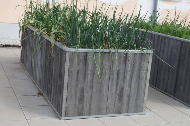 Hochbeet Aus Beton In Holzoptik