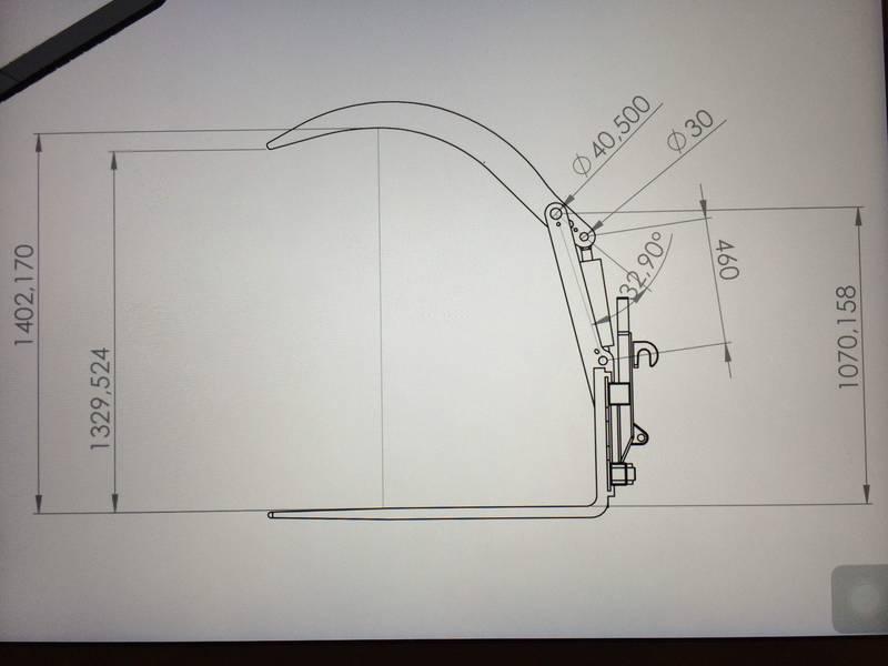 Palettengabel Niederhalter, Holzzange hydraulisch - neu! on