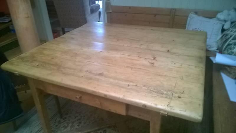 Atemberaubend Bauerntisch, antik, mit Eckbank @KI_84