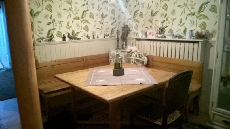 Atemberaubend Bauerntisch, antik, mit Eckbank &NX_77