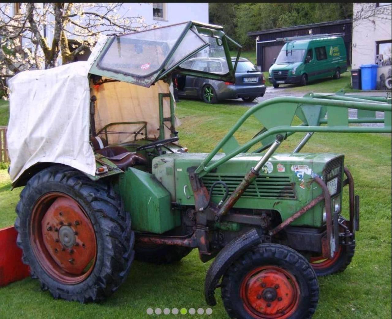 fendt farmer 2de traktor mit frontlader. Black Bedroom Furniture Sets. Home Design Ideas