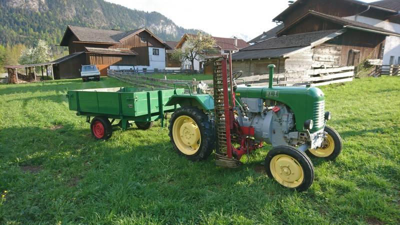 Atemberaubend Steyr Traktor T80 inkl. Mähwerk, 2 Anhänger @WU_41