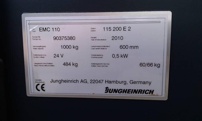 elektro deichselstapler jungheinrich emc 110. Black Bedroom Furniture Sets. Home Design Ideas