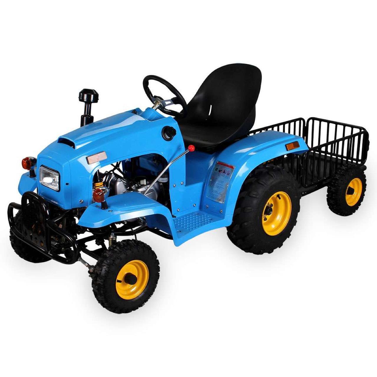 traktor f r kinder 110 cc mit anh nger. Black Bedroom Furniture Sets. Home Design Ideas