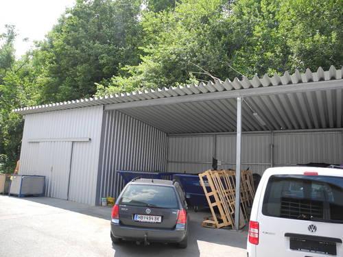 Carport Überdachung stahlkonstruktion unterstellplatz