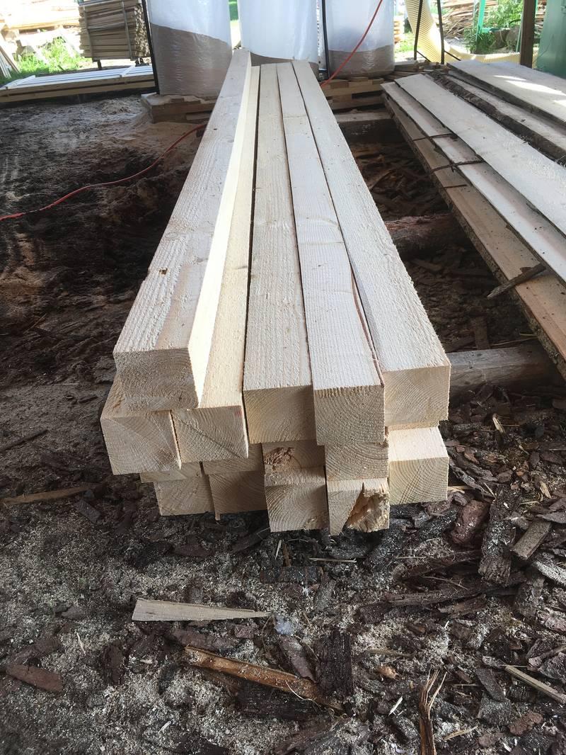 bauholz kantholz s gerau fichte 100 mm x 100 mm x 4 m
