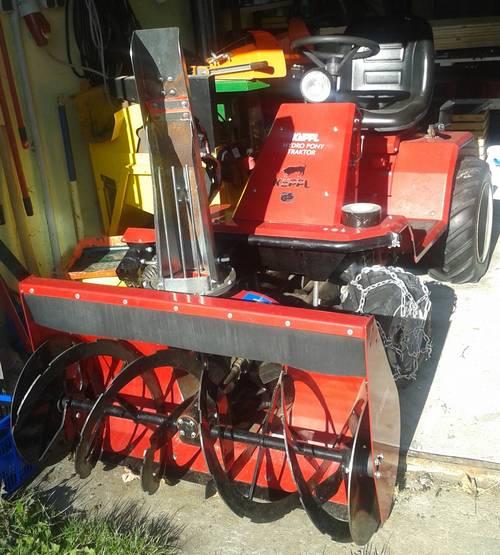 Cxserie 3punkt Schneefräse Traktor Schneefräse: Hydro Pony Traktor Von Köppl Samt Zubehör