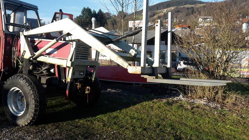 Steyr traktor 870 inkl. hydraulik frontlader und forstwinde