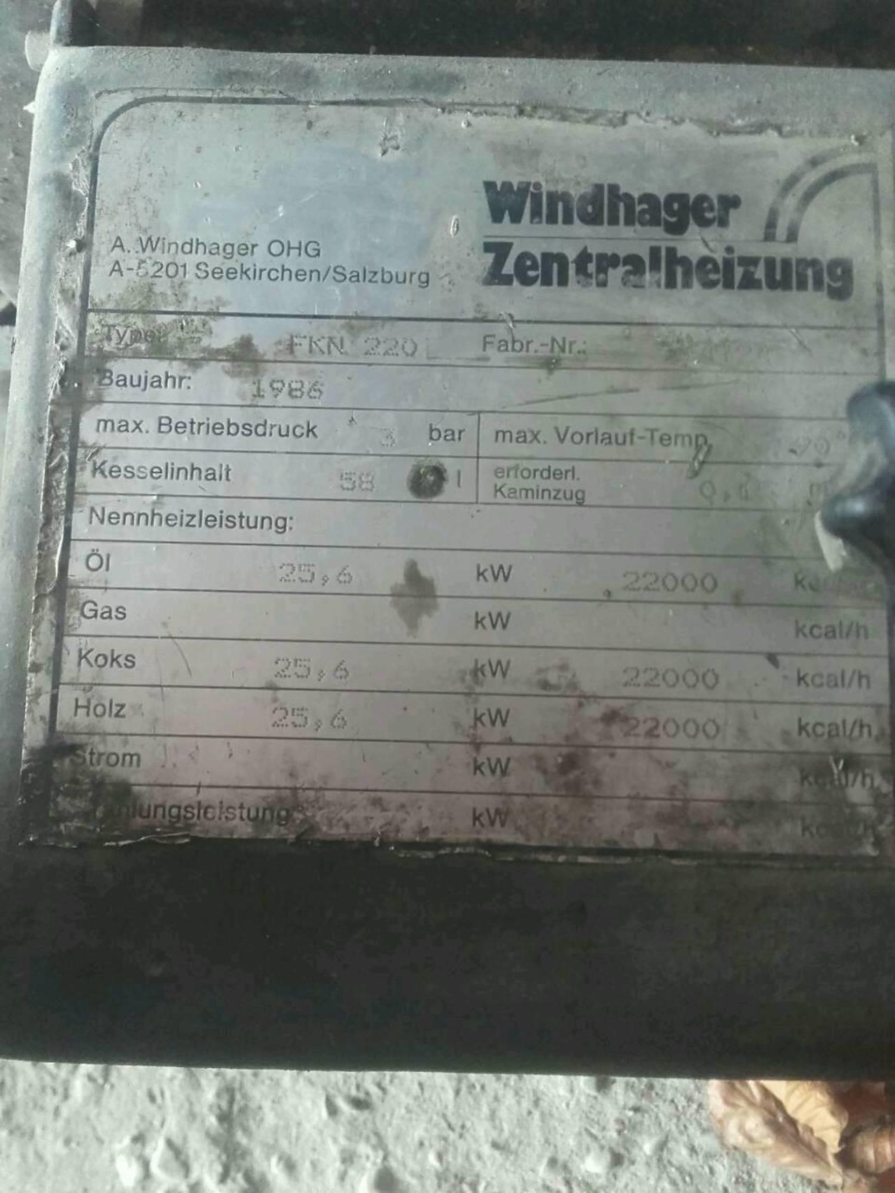 Windhager Zentralheizung