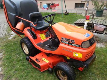 kubota tg1860 rasenm hertraktor evtl mit schneepflug streuer. Black Bedroom Furniture Sets. Home Design Ideas