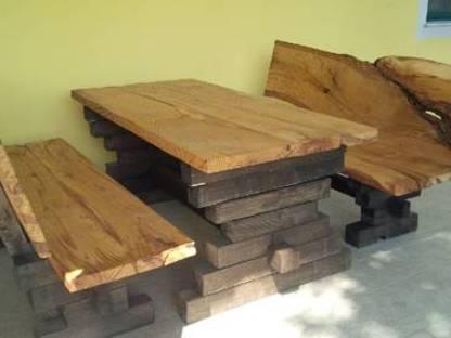 Gebrauchte Mobel Rustikale Holz Gartengarnitur Eiche Gebraucht Kaufen Landwirt Com